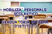 Circ. 31/03/21 - Mobilità personale scolastico e graduatorie interne d'istituto